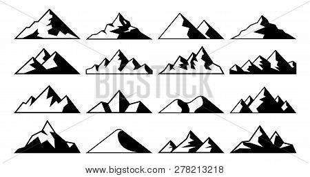 Mountain Peak Icon Tibet Mountains