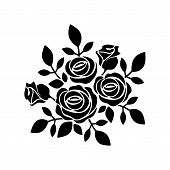 Roses Icon Vector In Modern Flat Style For Web, Graphic And Mobile Design. Roses Icon Vector Isolate poster