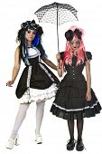 stock photo of lolita  - Beautiful and dark Gothic and Lolita doll characters - JPG