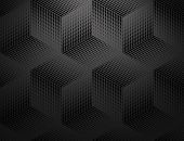 Abstract Geometric Pattern. Seamless Vector Background. Black Halftone. Graphic Modern Pattern. Simp poster