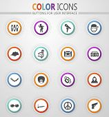 Rap Hip Hop Music Icon Set For Web Sites And User Interface poster