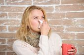 Runny Nose And Other Symptoms Of Cold. Drinking Plenty Fluid Important For Ensuring Speedy Recovery  poster