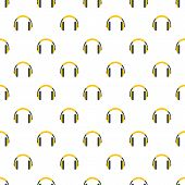 Rap Headset Pattern Seamless Vector Repeat For Any Web Design poster