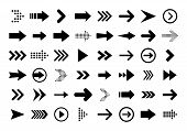 Arrows Big Black Set Icons. Arrow Icon. Arrow Vector Collection. Arrow. Cursor. Modern Simple Arrows poster