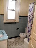 Small Outdated Bathroom In An Old House