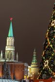 New Year Tree on Red Square, Moscow