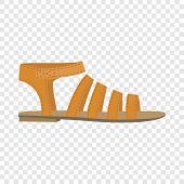 Summer Woman Sandal Icon. Flat Illustration Of Summer Woman Sandal Icon For Web Design poster