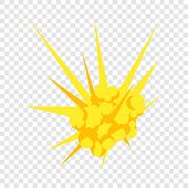 Bomb Explosion Icon. Flat Illustration Of Bomb Explosion Icon For Web Design poster
