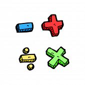 maths symbols cartoon
