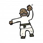 karate expert cartoon