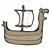 viking longboat cartoon