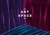 Vector Illusive Surreal Art Background For Design Like A Hallucination Drug Trip Surrealism, Linear  poster