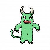 pelziges Monster cartoon
