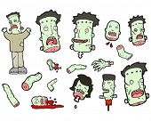 cartoon do monstro de Frankenstein