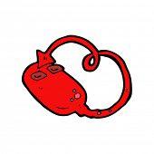 devilish mouse cartoon