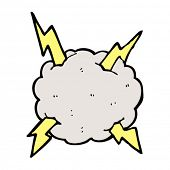 cartoon lightning bolt storm cloud
