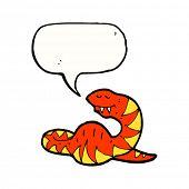 pic of bulging belly  - cartoon full snake with speech bubble - JPG