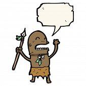 cartoon tribesman chanting