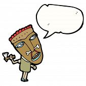 cartoon cannibal with speech bubble