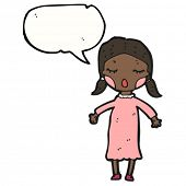 cartoon singing girl