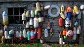 Old fishing buoys