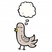 cartoon bird daydreaming
