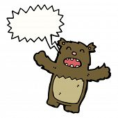 pic of teddy-bear  - little cartoon bear roaring - JPG