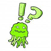 cartoon jellyfish panicking