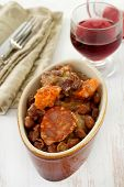 Sausages And Meat With Red Beans