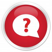 Question Icon Red Button
