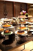 pic of banquette  - the decoration Different kinds of cakes banquet - JPG