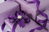 Purple Gift Box.