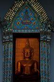Ancient Buddha In Church .