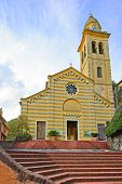 Portofino, San Martino Catholic Church Landmark. Liguria, Italy
