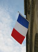 NATIONAL FLAG ON THE COUNTRY OF FRANCE