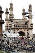 foto of charminar  - Charminar  Famous old monument in Hyderabad - JPG