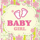 Vector background for a baby girl