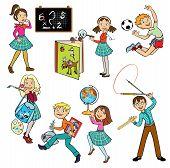 Set With School Children
