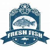Sello de pescado fresco