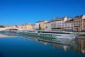 View Of Lyon City And Saone River