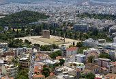 pic of olympian  - The Temple of Olympian Zeus is a colossal ruined temple in the centre of the Greek capital Athens that was dedicated to Zeus - JPG