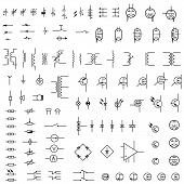 foto of diodes  - Set of icons of radio electronics  - JPG