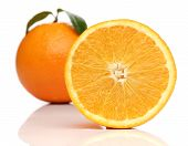 Healthy orange isolated over white background