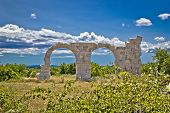 image of legion  - Ancient Roman Burnum archaeological site remainf of a Roman Legion camp in Dalmatia Croatia - JPG