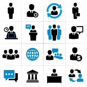 image of tribunal  - Business people icons - JPG
