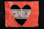 Red Heart And Money
