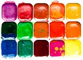 Watercolor Paintbox Close-up