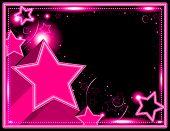 Neon Starburst Background