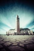 The Mosque Of Hassan Ii In Casablanca, Africa