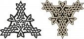 Traditional Celtic triskell. Tattoo pattern. Raster image. Find an editable version in my portfolio.